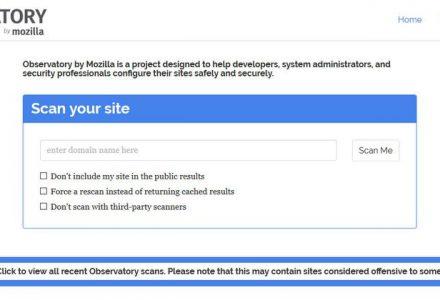 Mozilla推出免费检测网站完全技术使用状况扫描工具Observatory-SSL信息