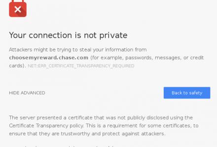 为什么Chrome53将拒绝大通银行网站的赛门铁克证书-SSL中国